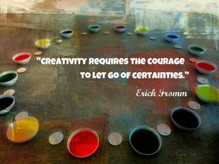 Creativty-letting go of certainties