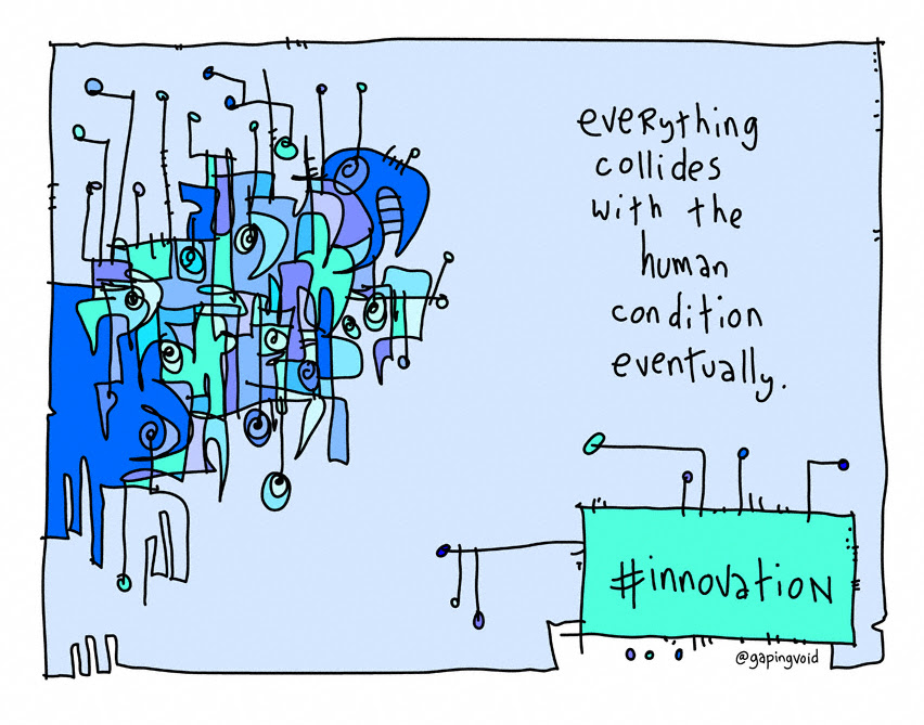 Gapingvoid-everything collides with humn condition